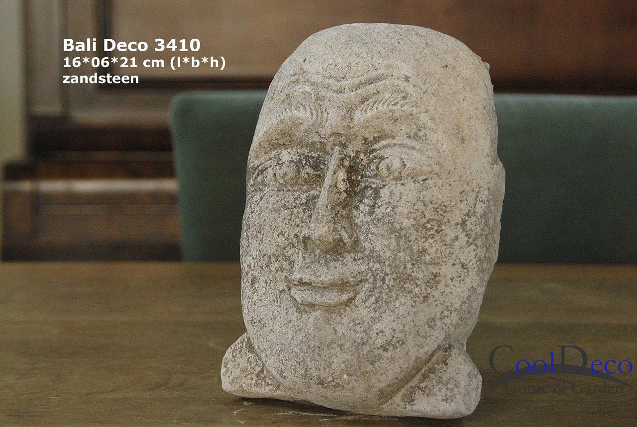 Bali deco 3410 - decoratief gezicht beeldje; huisaccessoire