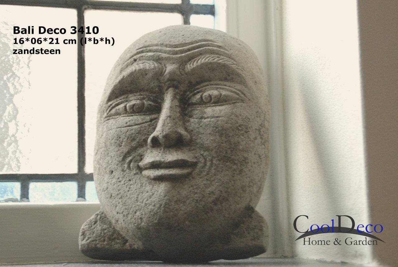 Bali deco 3410   decoratief gezicht beeldje; huisaccessoire