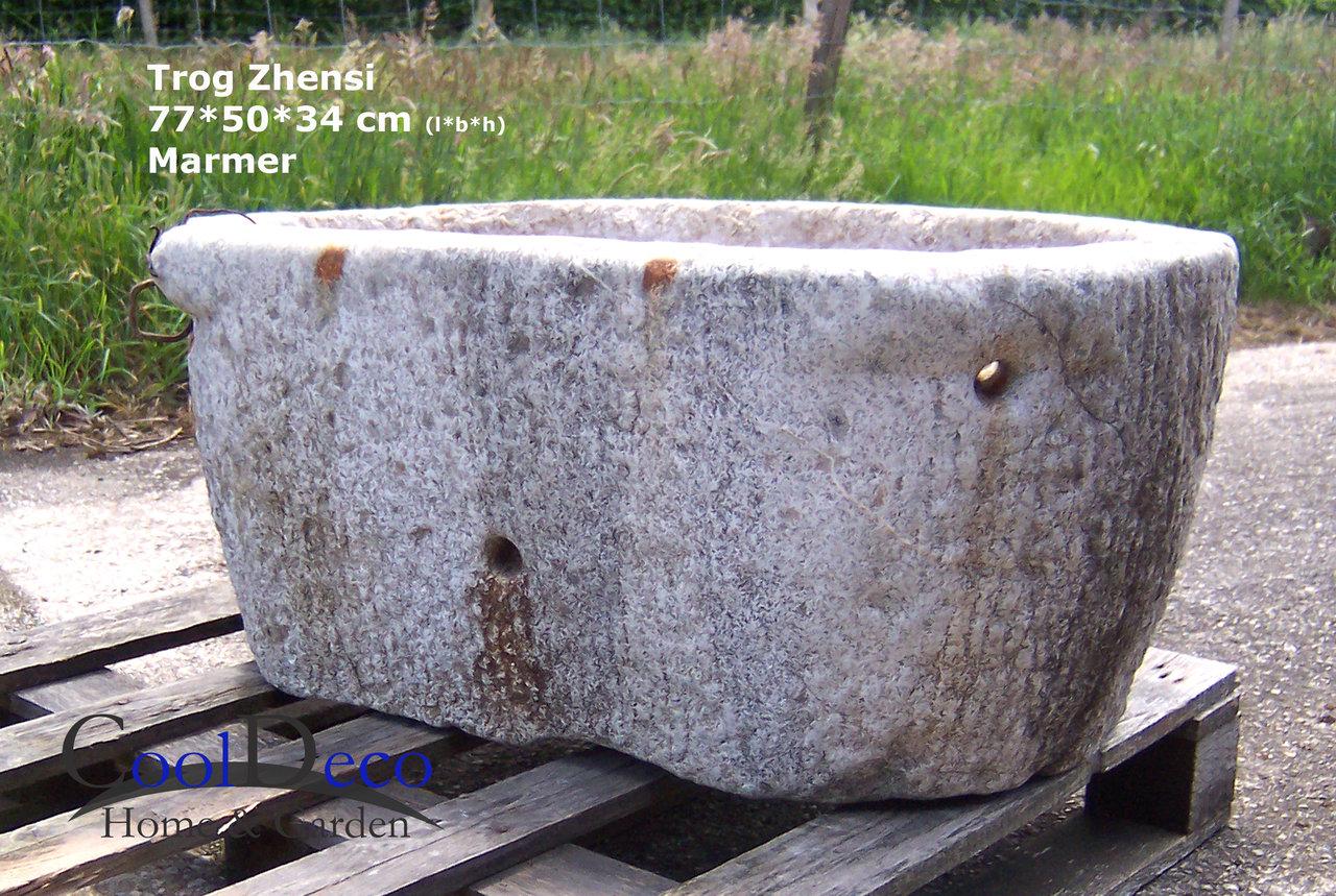 Oude wasbak buiten voedertrog zhensi brocante tuindecoratie - Tuindecoratie buiten ...