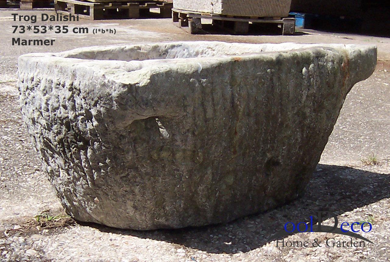 Wasbak buiten  oude trog Dalishi voor de fans van oud marmer! # Wasbak Gewicht_224808