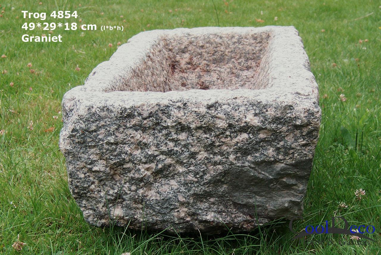 kleiner granit trog 4854 vogeltr nke aus granit gartendeko. Black Bedroom Furniture Sets. Home Design Ideas
