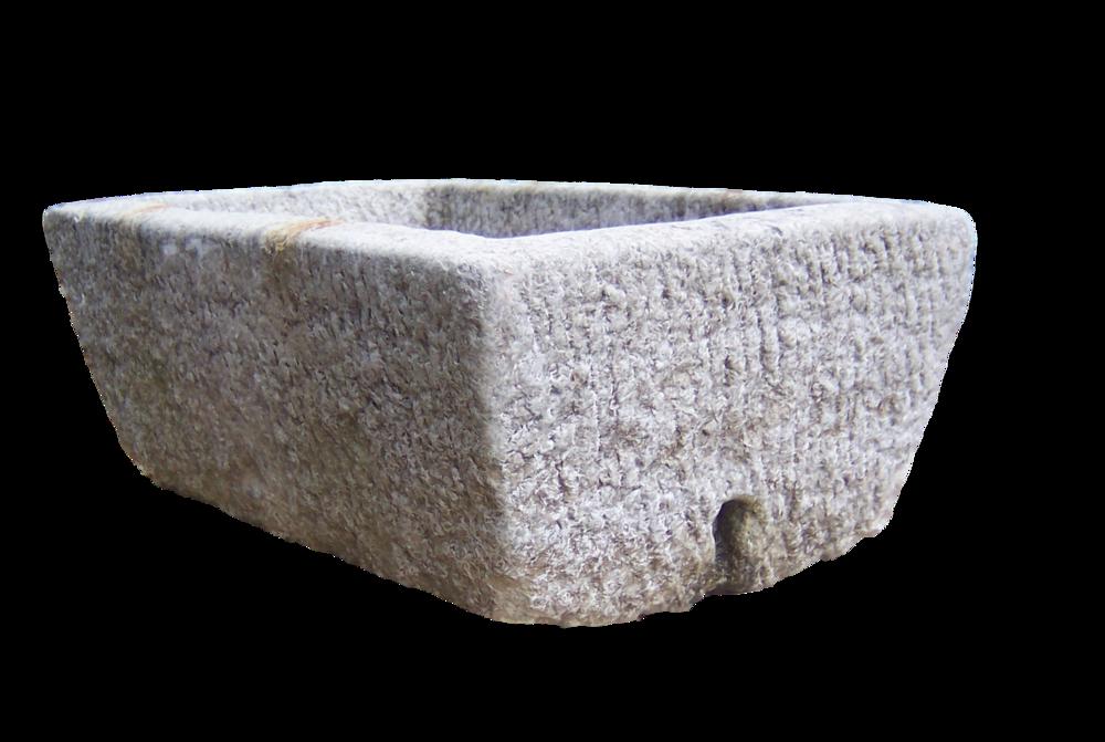 Trog Xue - Marmor Pflanzkuebel eignet sich als Waschbecken!
