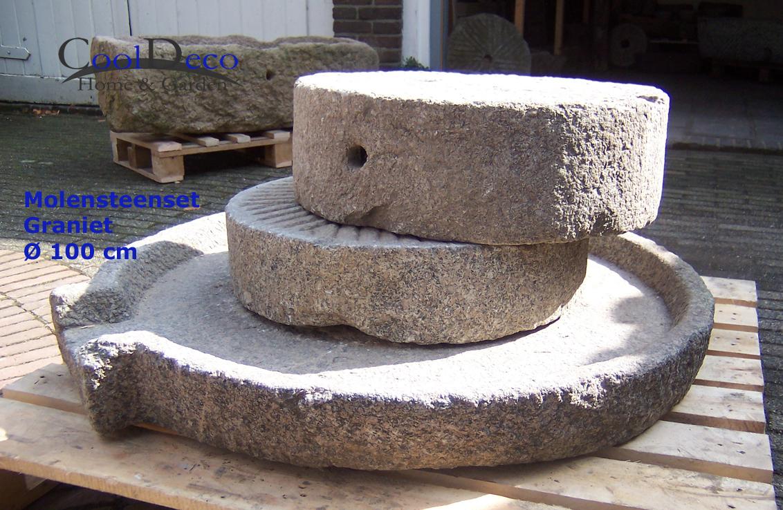 m hlstein f r wasserspiel gartenbrunnen granit wasserbrunnen. Black Bedroom Furniture Sets. Home Design Ideas