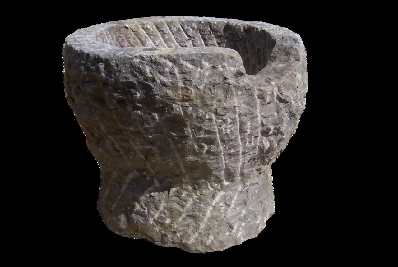 Grote vijzel 3591 stenen bloempot natuursteen tuindecoratie - Tuindecoratie buiten ...