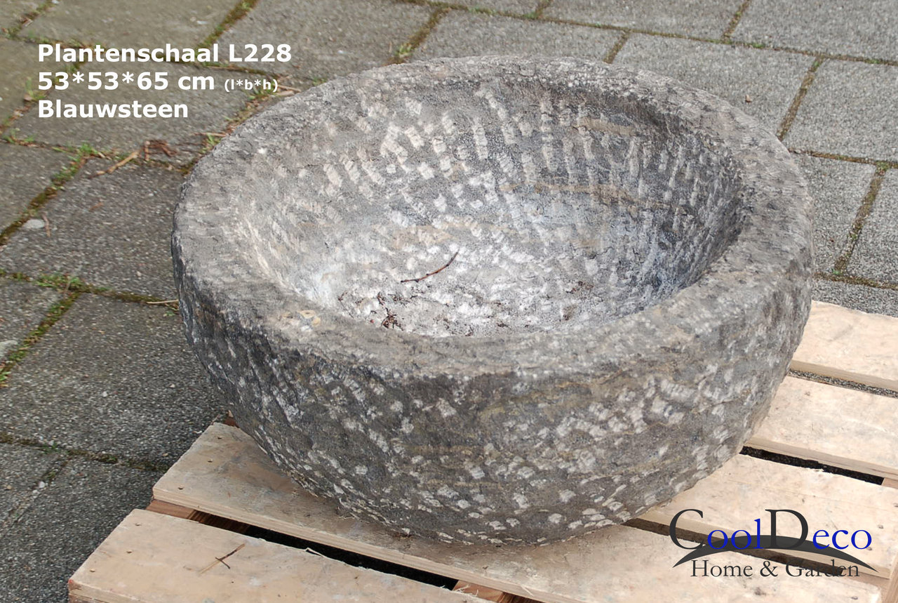 Verrassend Ronde plantenschaal - bloempot voor buiten L228; Stenen schaal XQ-68