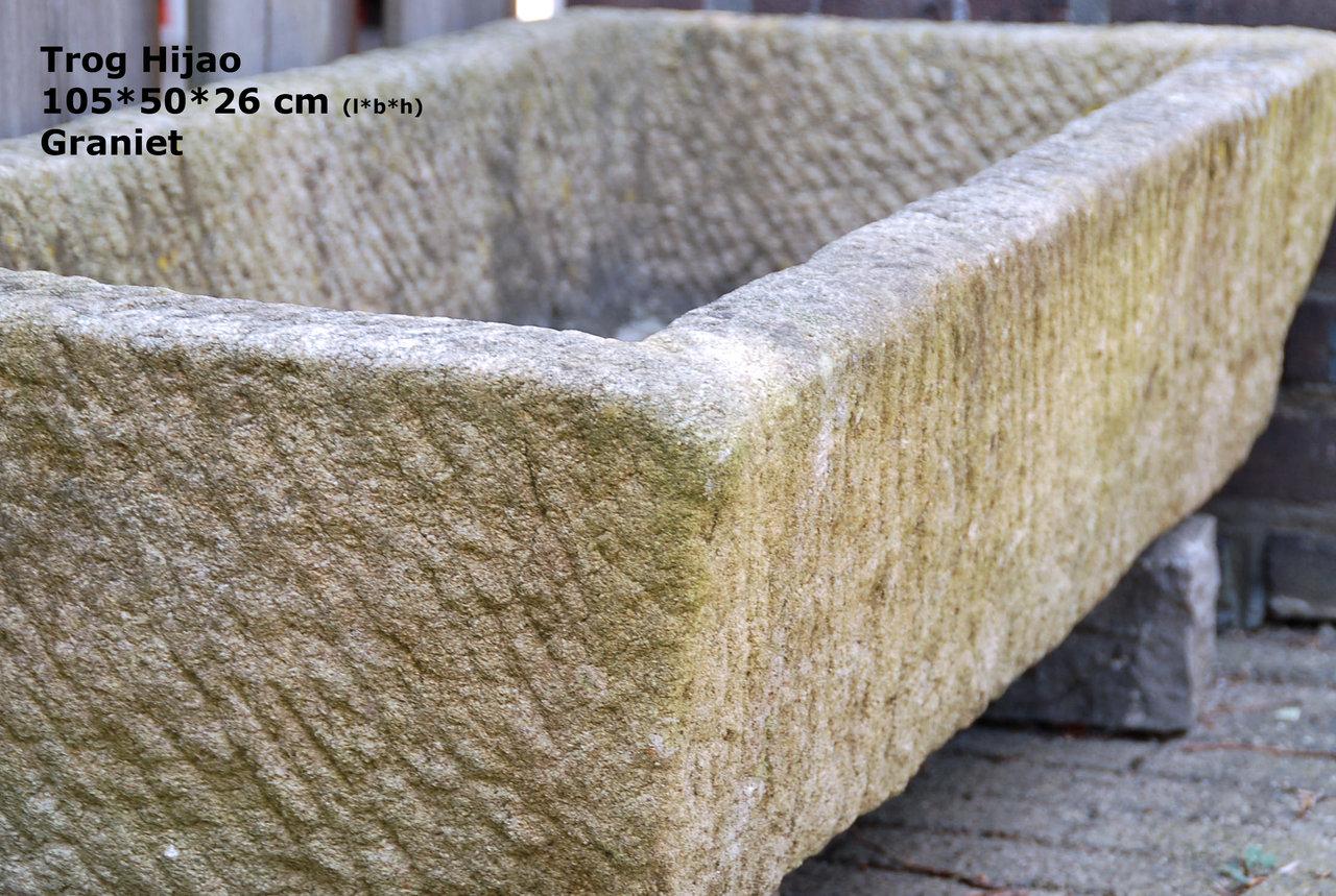 Alte Tiertränke Hijao - Weidetränke Granit Pflanzkübel Naturstein