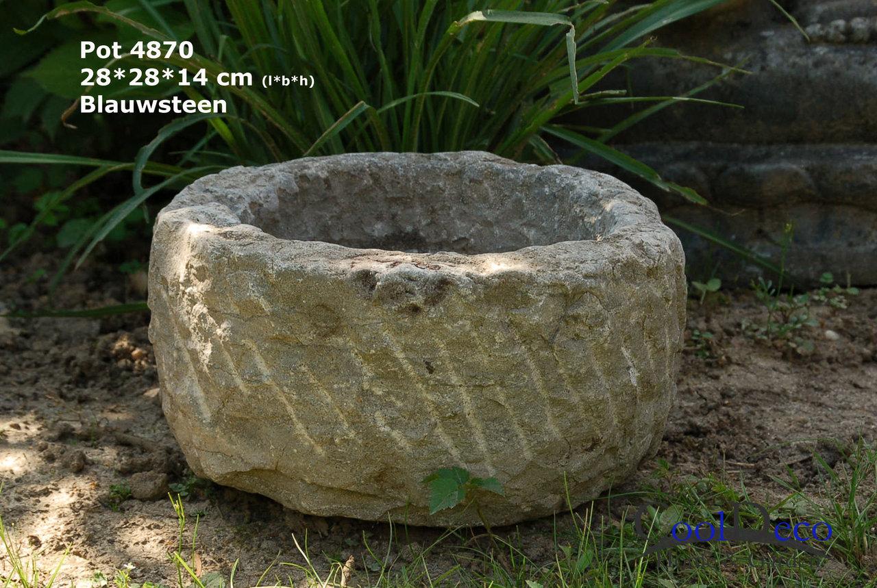 steinbecken für den garten - ziertopf 4870 wohndeko gartendeko, Hause und Garten