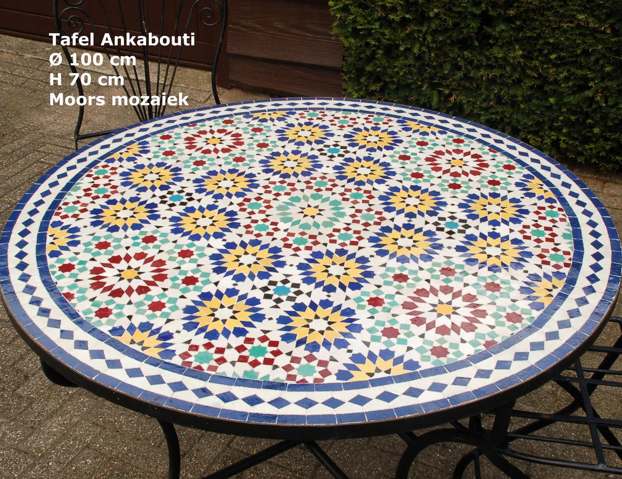 Mozaie tafel rond mozaïek u get success