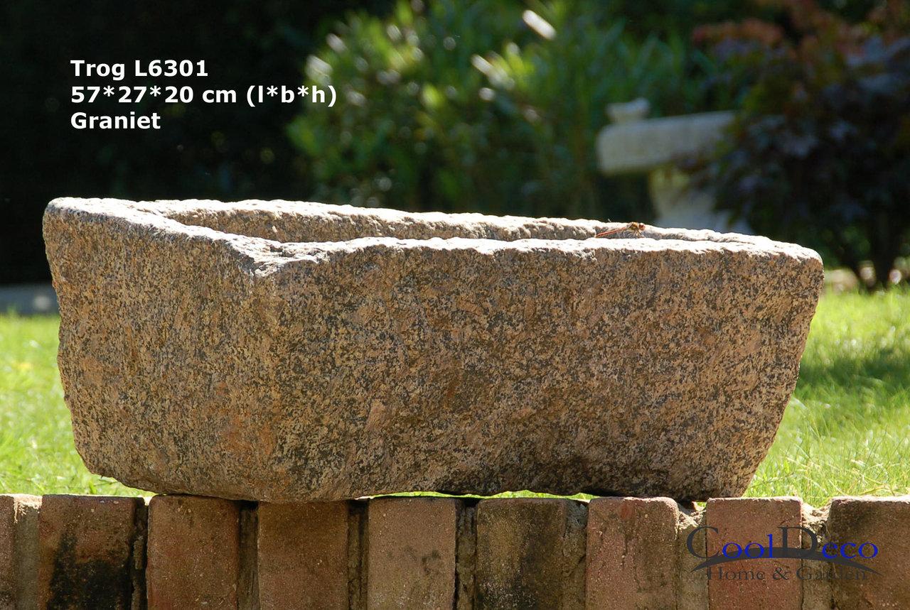 vogelbad au granit steintrog l6301 naturstein im garten. Black Bedroom Furniture Sets. Home Design Ideas