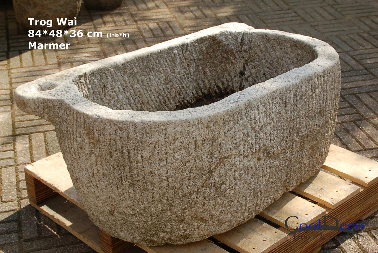 marmor waschbecken alter steintrog wa alte marmor gartendeko. Black Bedroom Furniture Sets. Home Design Ideas