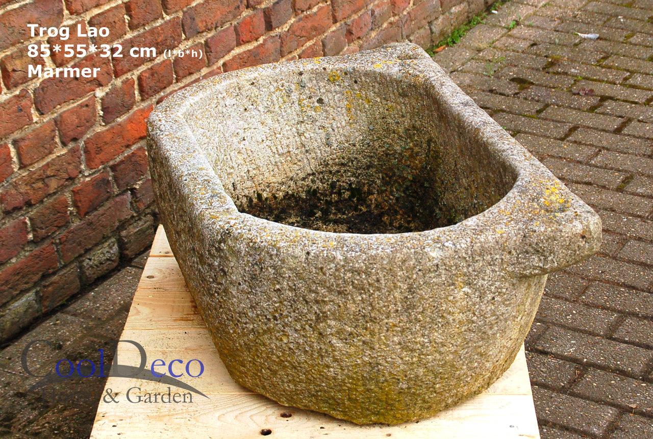 Waschbecken Draussen Marmor Becken Lao Blickfang Im Garten